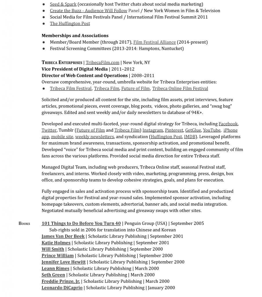Kristin McCracken Résumé 2021-2